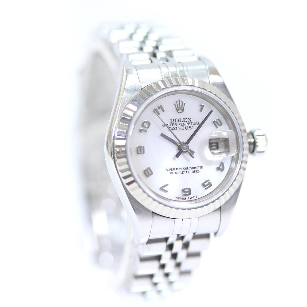 【中古】ROLEX ロレックス デイトジャスト 腕時計 レディース 自動巻き シルバー 79174NA