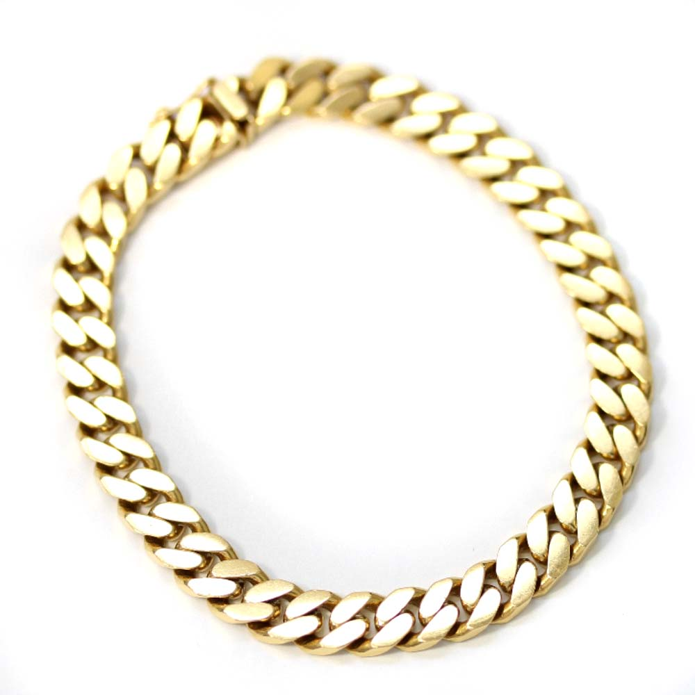 【中古】no brand ノーブランド 喜平 2面 シングル 全長約 20cm 約 31.5g ブレスレット メンズ ゴールド K18イエローゴールド ジュエリー