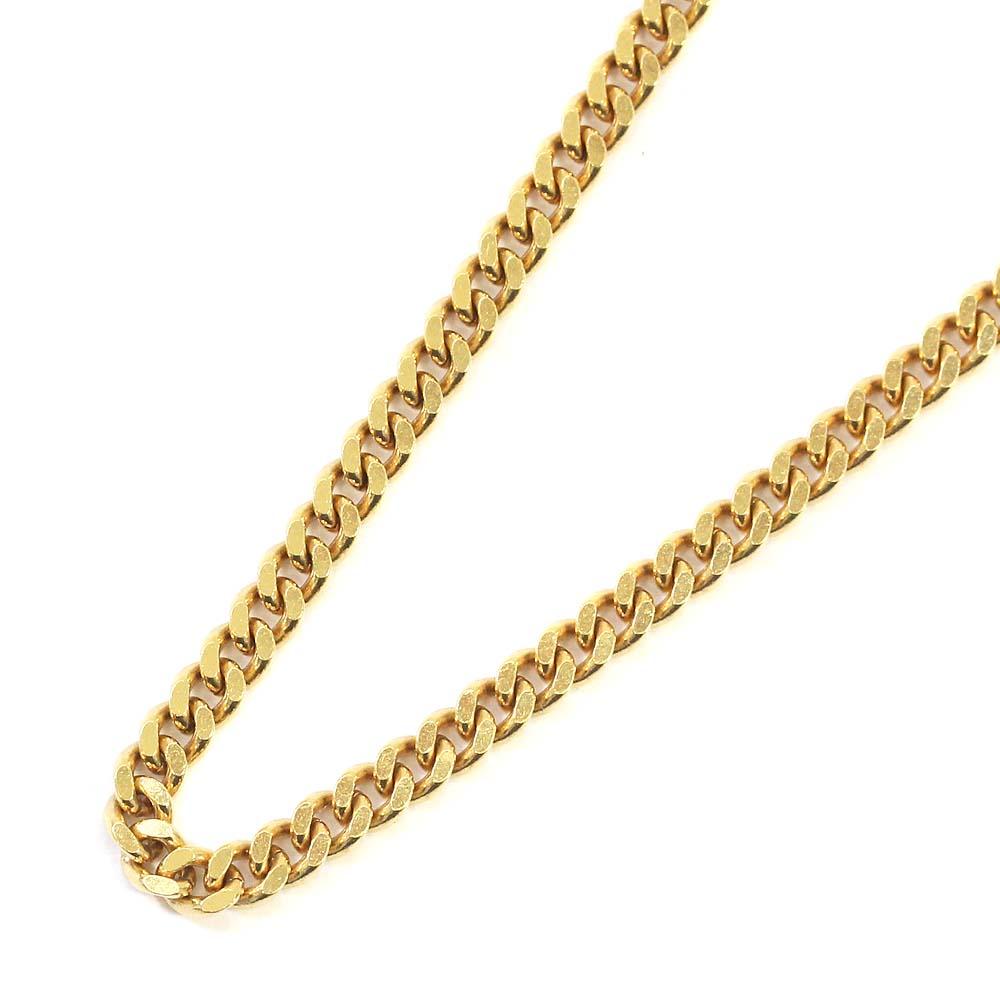 【中古】no brand ノーブランド 喜平 2面 シングル 全長約 50cm 約 20g ネックレス ユニセックス イエローゴールド K18ゴールド ジュエリー