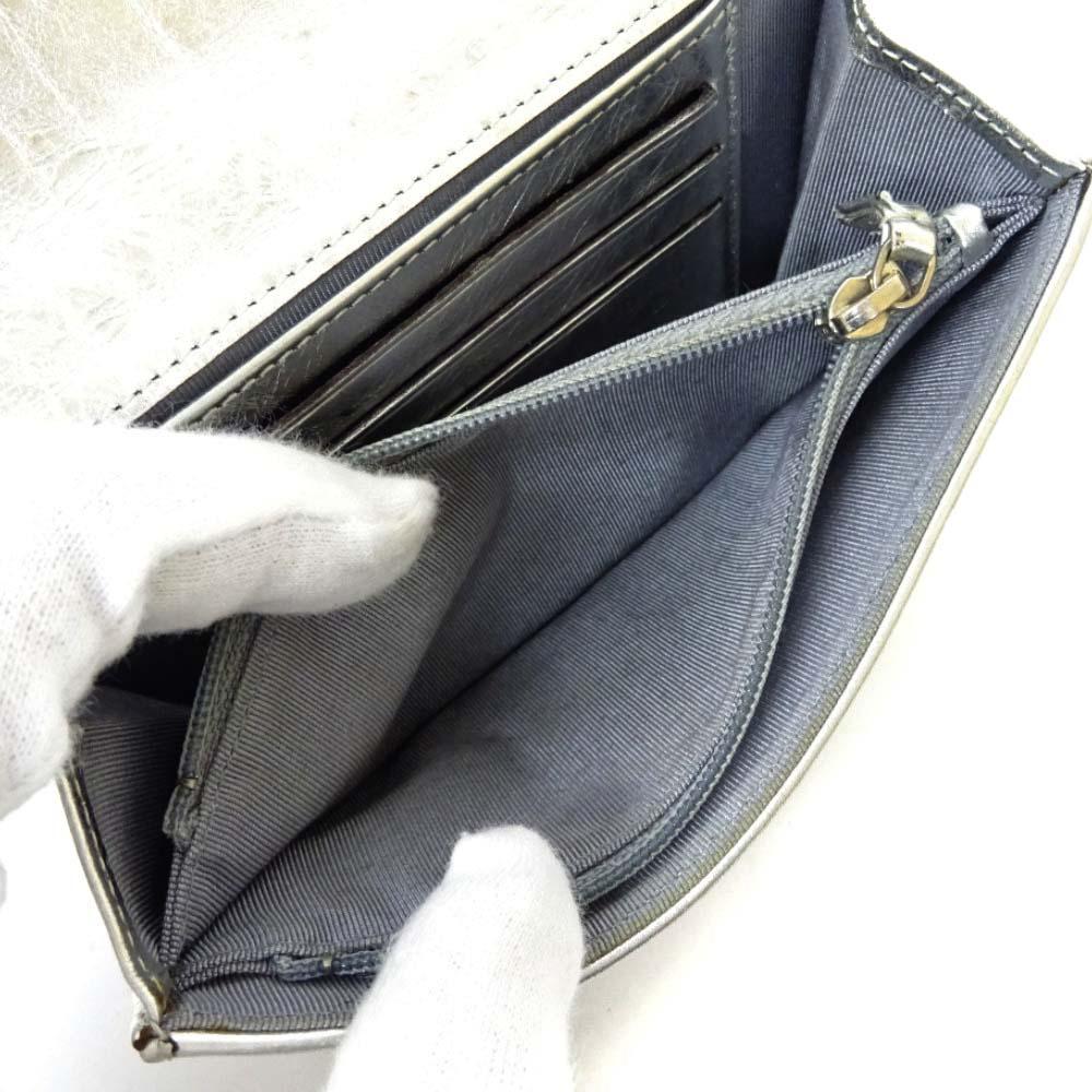 CHANEL シャネル 2 55 マトラッセ ミディアム 二つ折り財布レディース メタリックシルバー レザー A35303rECedQoxBW