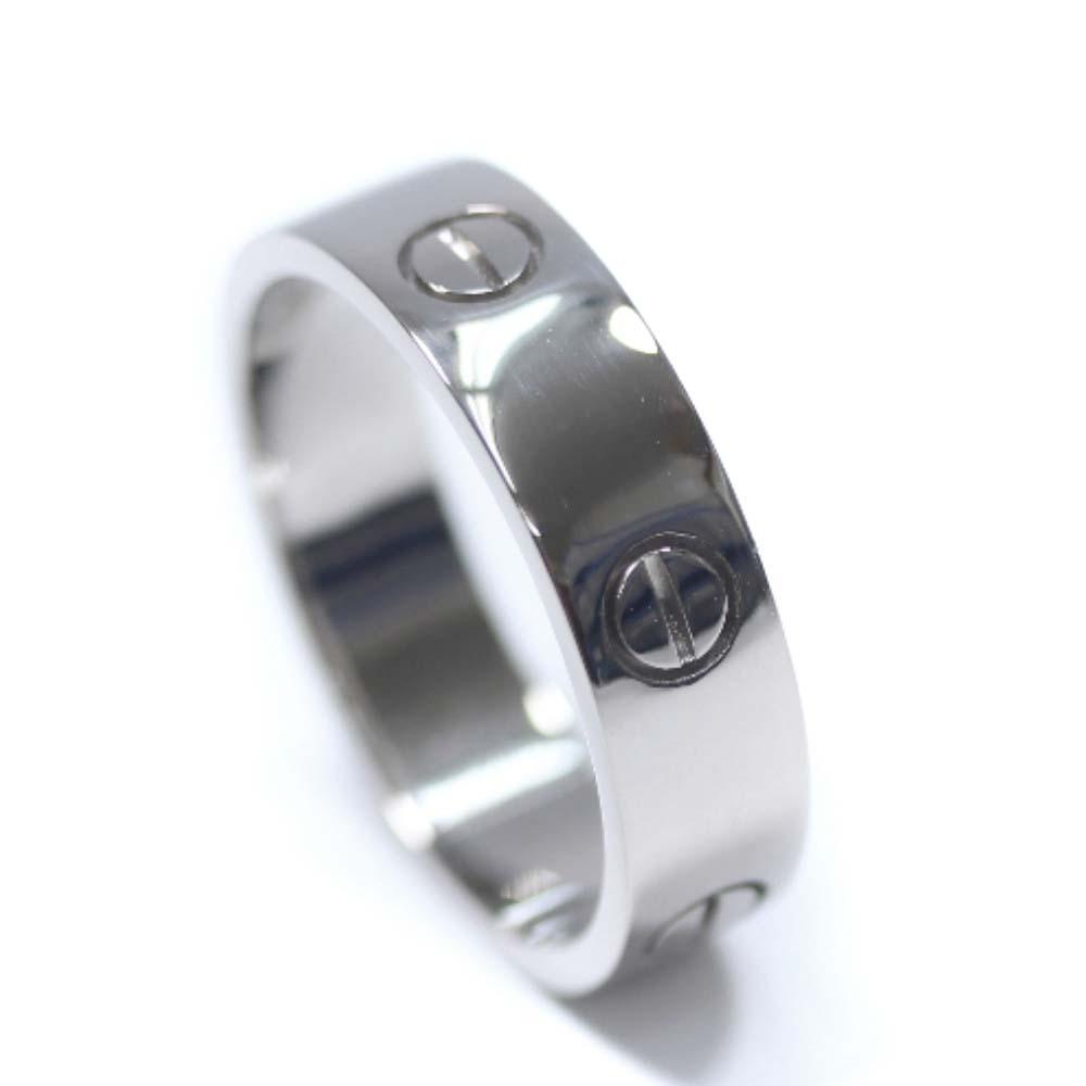 【中古】CARTIER カルティエ ラブリング リング・指輪 ユニセックス 22号 ホワイトゴールド K18ゴールド ジュエリー【新品仕上げ済み】