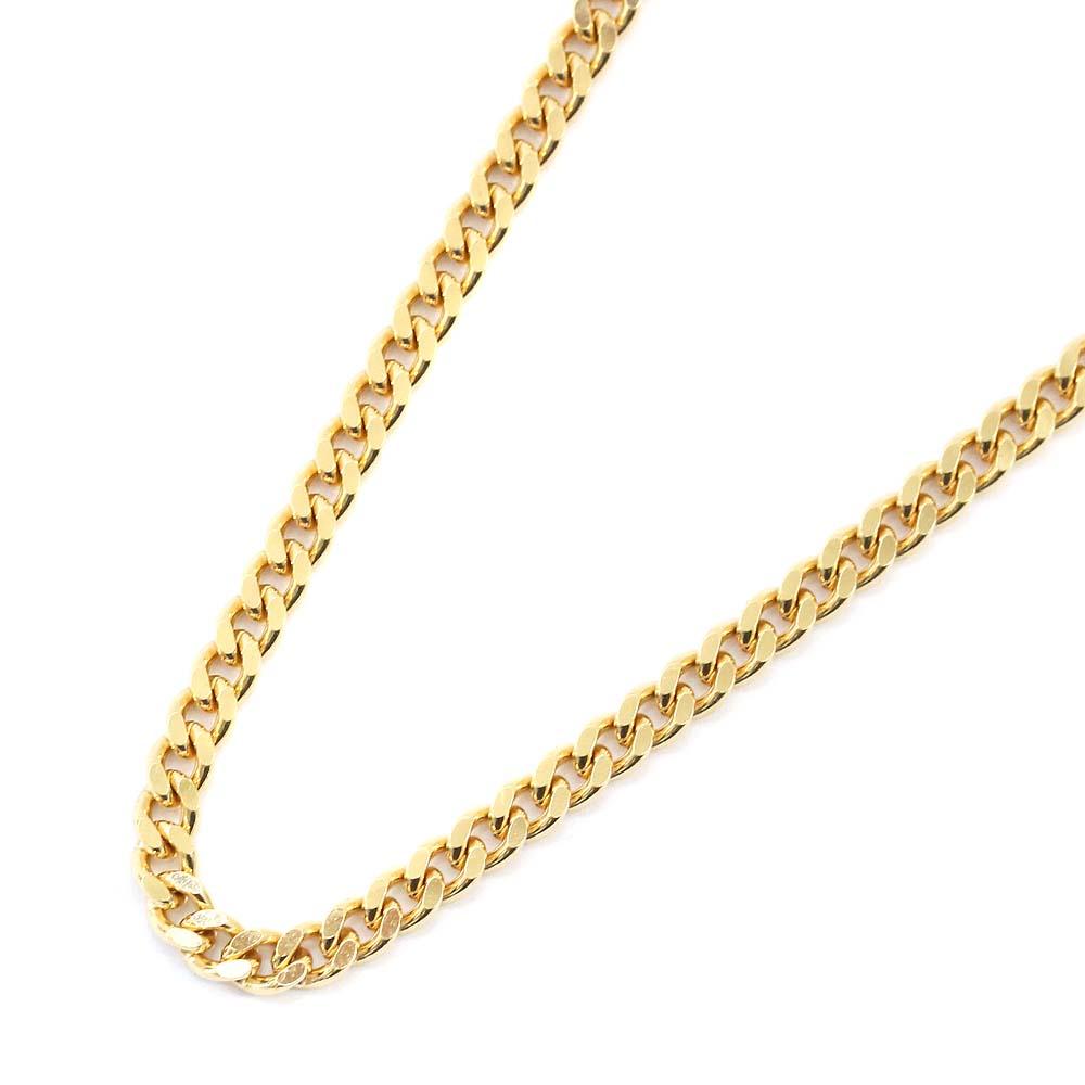 【中古】no brand ノーブランド 喜平 2面 シングル 全長約 50cm 約 20.2g ネックレス ユニセックス イエローゴールド K18ゴールド ジュエリー