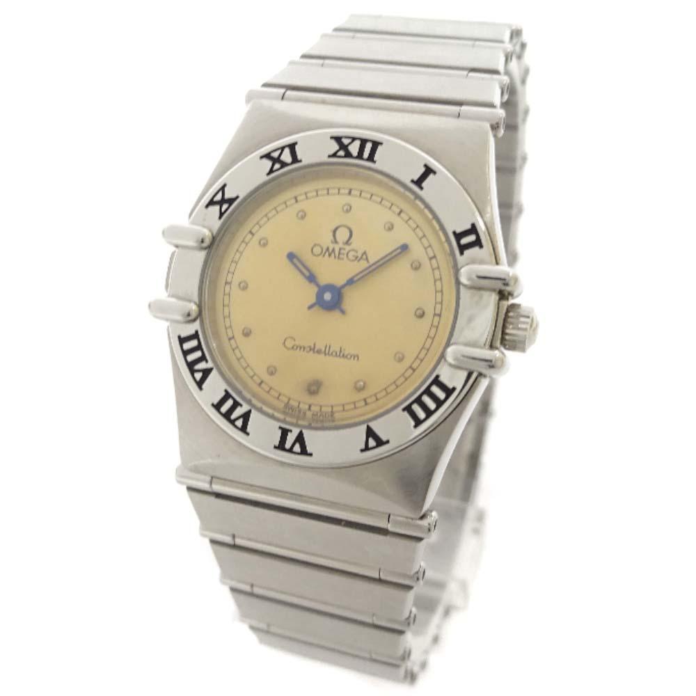 【中古】OMEGA オメガ コンステレーション 腕時計 レディース クオーツ シルバー