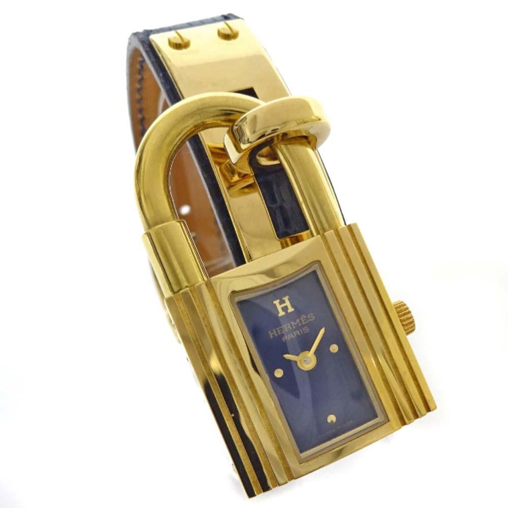 【中古】HERMES エルメス ケリーウォッチ 腕時計 レディース クオーツ ゴールド ブルー