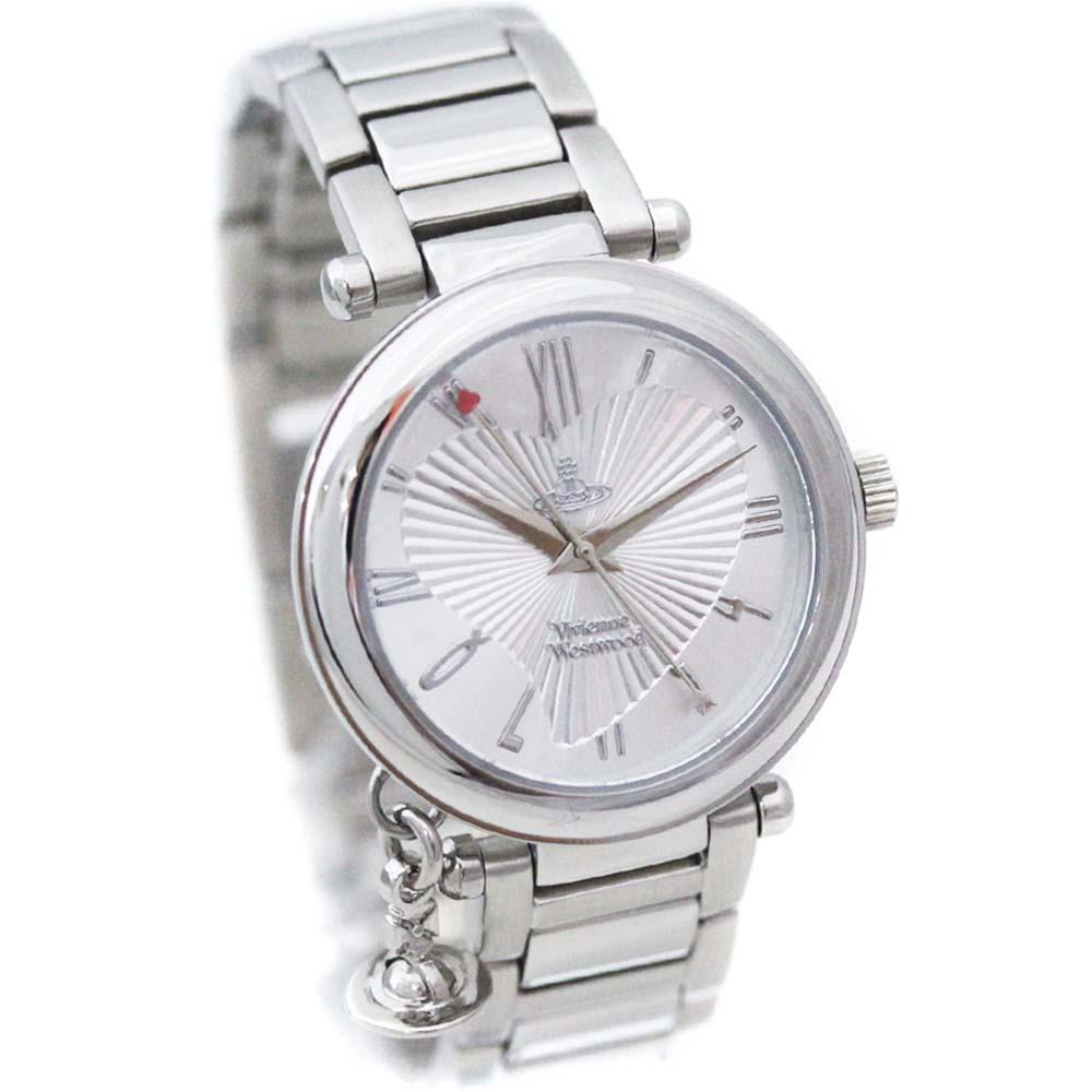【中古】【美品】Vivienne Westwood ヴィヴィアンウエストウッド オーブ 腕時計 レディース クオーツ シルバー文字盤 シルバー VV006SLBR