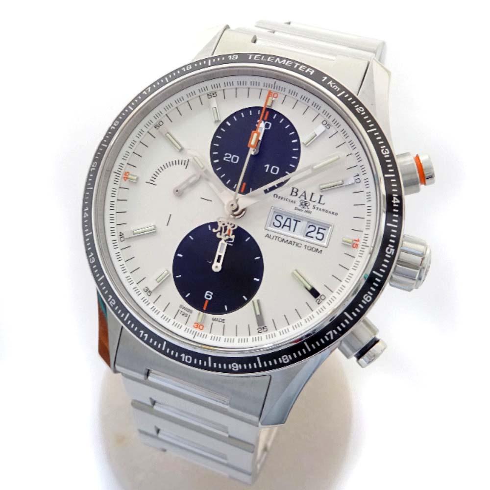 【中古】BALLWATCH ボールウォッチ ストークマン ストームチェイサー プロ 腕時計 メンズ 自動巻き ホワイト文字盤 シルバー CM3090C