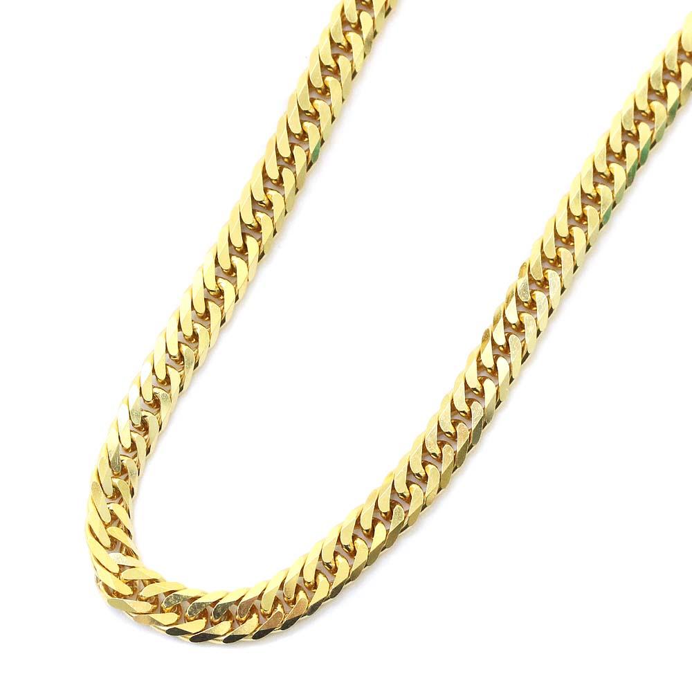 【中古】no brand ノーブランド 喜平 6面 ダブル 全長約 50cm 約 30.2g ネックレス ユニセックス イエローゴールド K18ゴールド ジュエリー