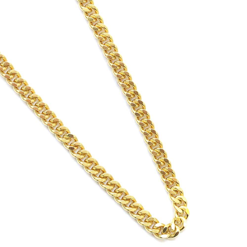【中古】no brand ノーブランド 喜平 2面 シングル 全長約 61cm 約 10.2g ネックレス ユニセックス イエローゴールド K18ゴールド ジュエリー
