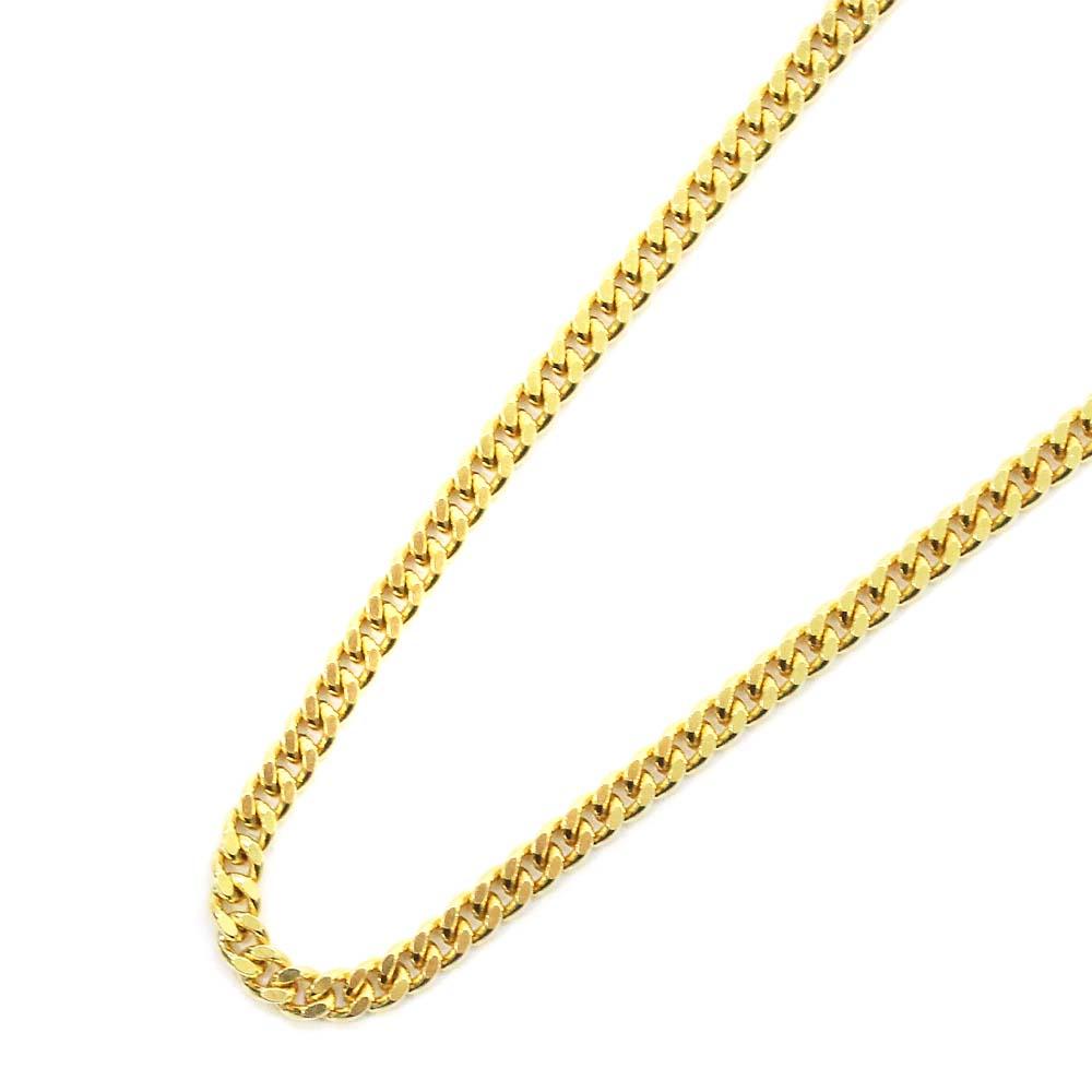 【中古】 喜平 2面 シングル 全長約 60cm 約 12g ネックレス ユニセックス イエローゴールド K18ゴールド ジュエリー