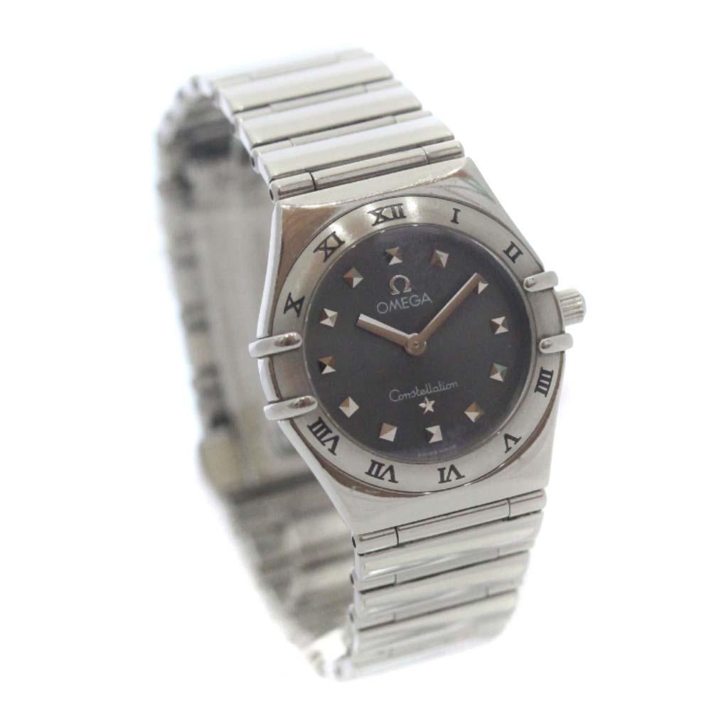 【中古】OMEGA オメガ コンステレーション ミニ マイチョイス 腕時計 レディース クオーツ グレー文字盤 シルバー グレー 1571.51