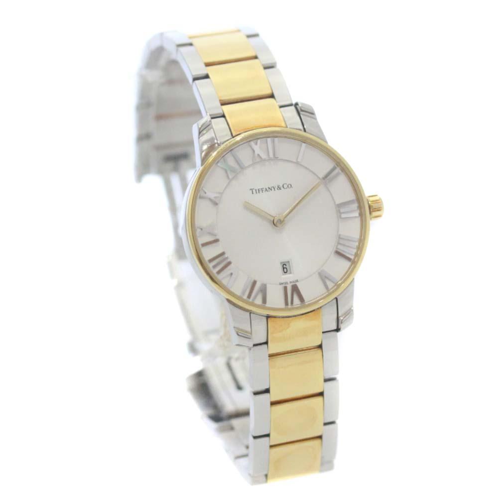 【中古】TIFFANY&Co. ティファニー アトラスドーム 腕時計 レディース クオーツ ホワイト文字盤 コンビ Z1830.11.13A21A00A