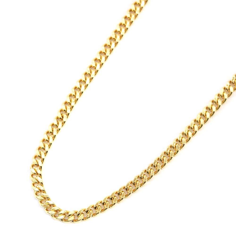 【中古】no brand ノーブランド 喜平 2面 シングル 全長約 60cm 約 10g ネックレス ユニセックス イエローゴールド K18ゴールド ジュエリー