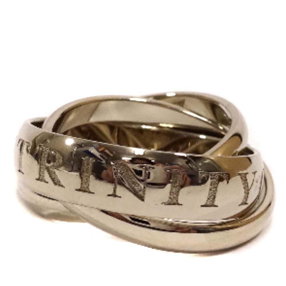【中古】CARTIER カルティエ トリニティ 3連リング リング・指輪 レディース 15号 ゴールド K18ゴールド ジュエリー【新品仕上げ済み】