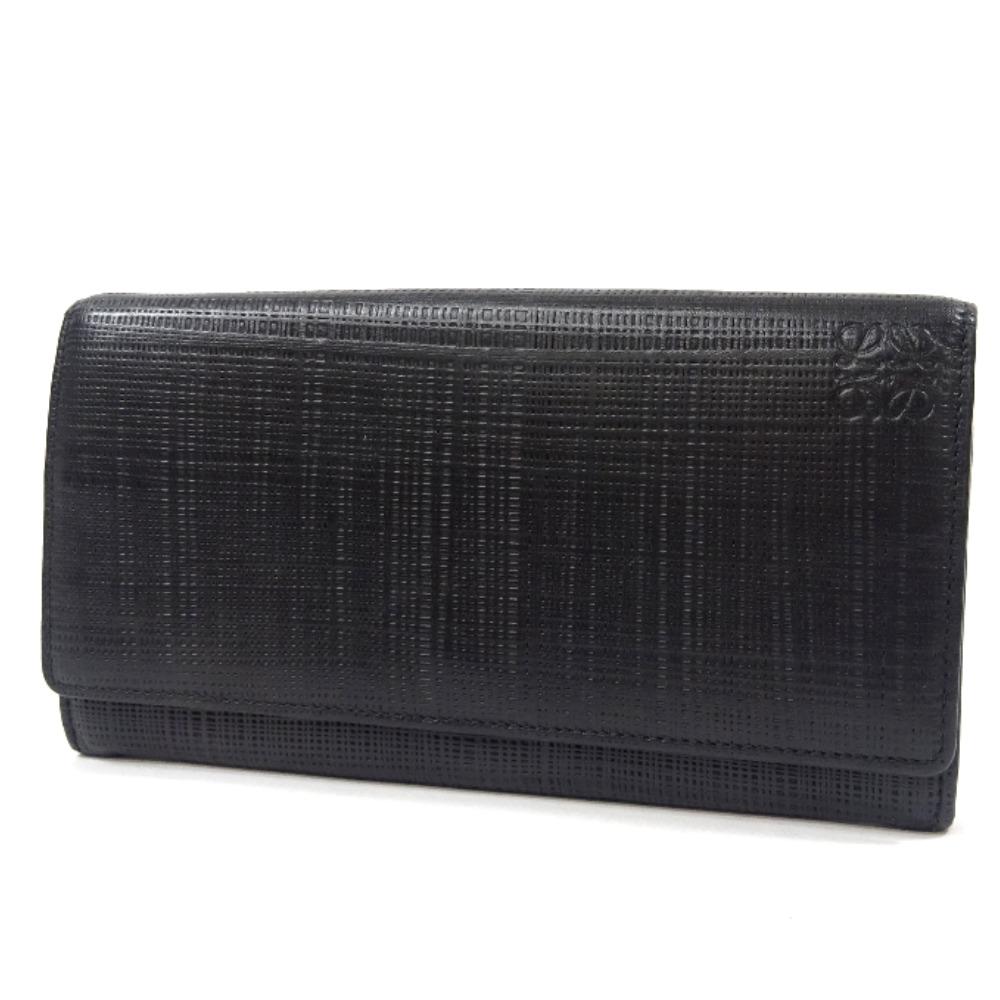 日本未入荷 【】LOEWE ロエベ コンチネンタル ウォレット 二つ折り 長財布 メンズ ブラック レザー, サイズが豊富なスーツドレス TSC 5486bc4c