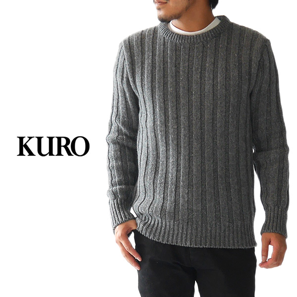 Golden State Kuro Black Cable Knit Sweater Crew Neck 961714 Japan