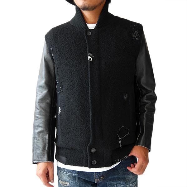 KURO クロ リメイク アワードジャケット スタジャン 961690 ウールジャケット レザー ナッピング 日本製 (メンズ)