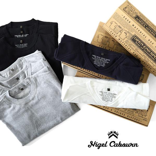 Product made in Nigel Cabourn Nigel Kay 3, Bonn pack T-shirt 3-PACK GYM TEES gym T-shirt short sleeves T-shirt Japan (men's)