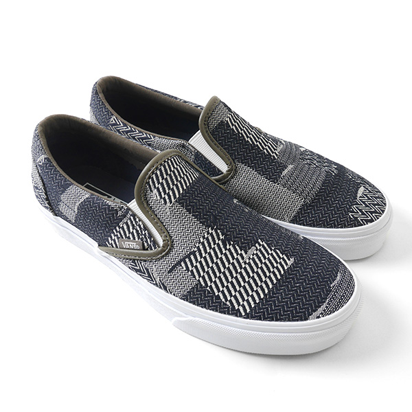 VANS vans patchwork denim slip-ons Slip-On crazy sneakers (men's Lady's)