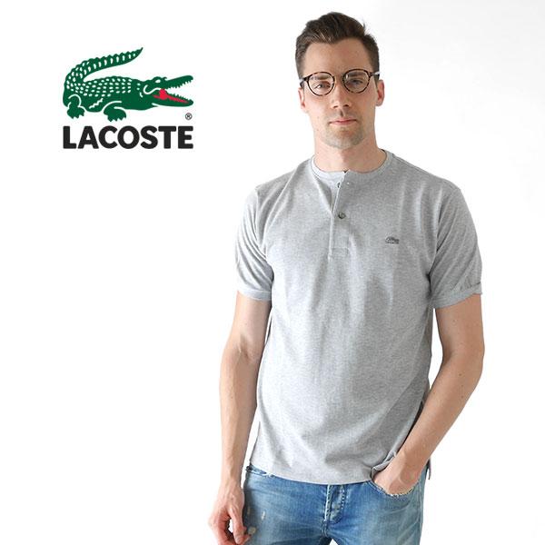 【SALE 20%OFF 】【日本企画】LACOSTE ラコステ 鹿の子 ヘンリーネックTシャツ PH528E (メンズ)