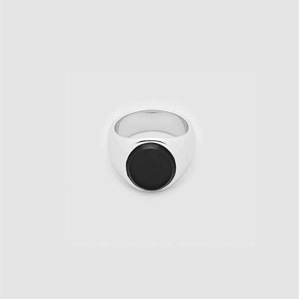 トムウッド TOMWOOD リング 指輪 オニキス シルバー Oval Black onyx 黒 (メンズ)