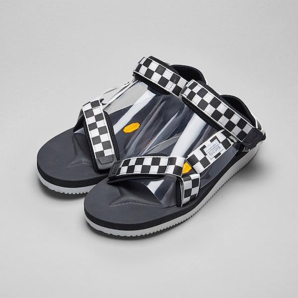 ffba81f81c6 SUICOKE Sui cook DEPA checker flag sandals check vibram Vibram (men s  Lady s)