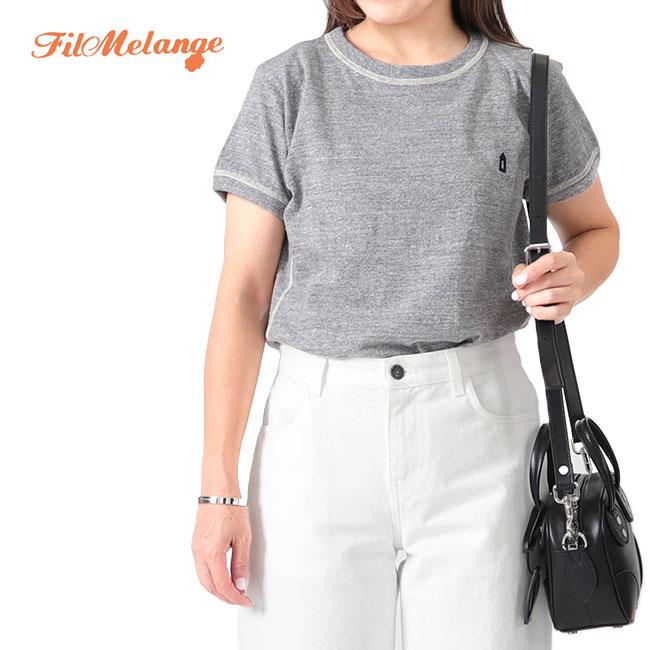 FilMelange フィルメランジェ ELMES エルムズ ロゴ刺繍 Tシャツ (メンズ レディース)