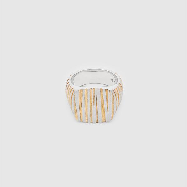 TOMWOOD トムウッド ウッドデザイン リング 指輪 シルバー Cushion Structure Gold