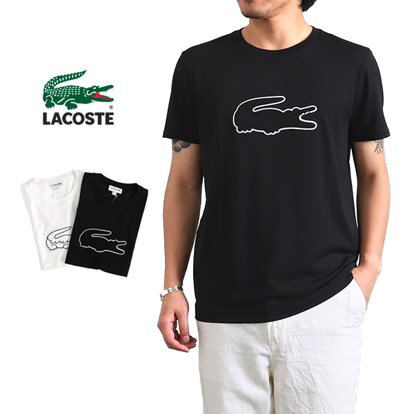 923c942fe Golden State  LACOSTE Lacoste big crocodile logo T-shirt TH7961L ...