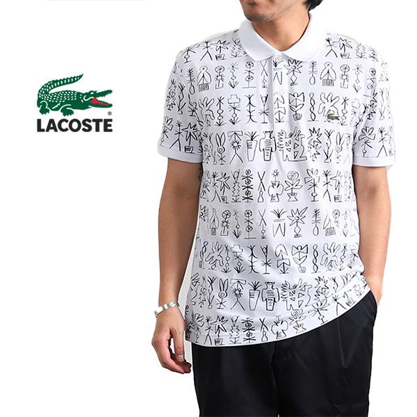 LACOSTE ラコステ エジプトプリント 総柄 鹿子ポロシャツ PH3231L (メンズ)