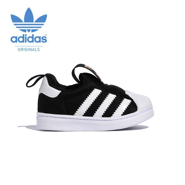 the latest 41c62 e91da ... coupon code adidas adidas originals superstar slip ons s32130 black  black kids 19096 cab2e