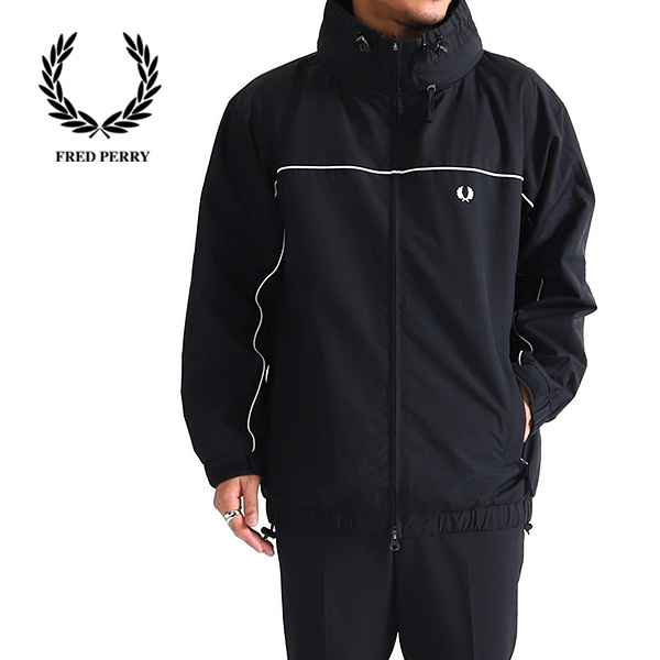 【TIME SALE 50%OFF】Fred Perry フレッドペリー ロゴ入りスポーツジャケット F2560 (メンズ)
