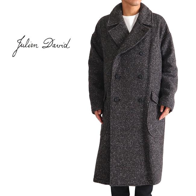 JULIEN DAVID ジュリアンデイヴィッド ダブルフェイス オーバーサイズ ウールコート CMF-1804 ロングコート (メンズ)