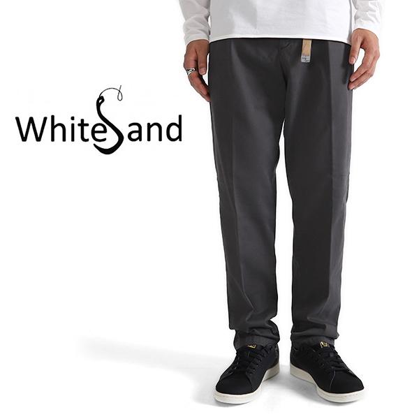 White Sand ホワイトサンド コットン タイプライターパンツ スラックス 18WXS1605 イージーパンツ トラウザー (メンズ)