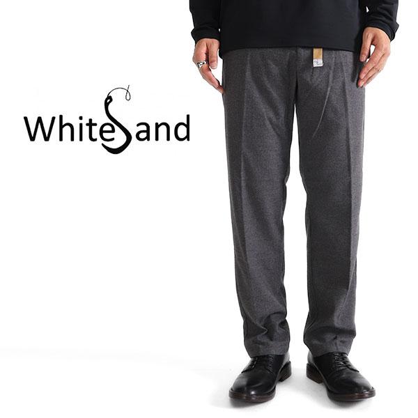 White Sand ホワイトサンド ウール タイプライターパンツ スラックス 18WXS16330 イージーパンツ トラウザー (メンズ)