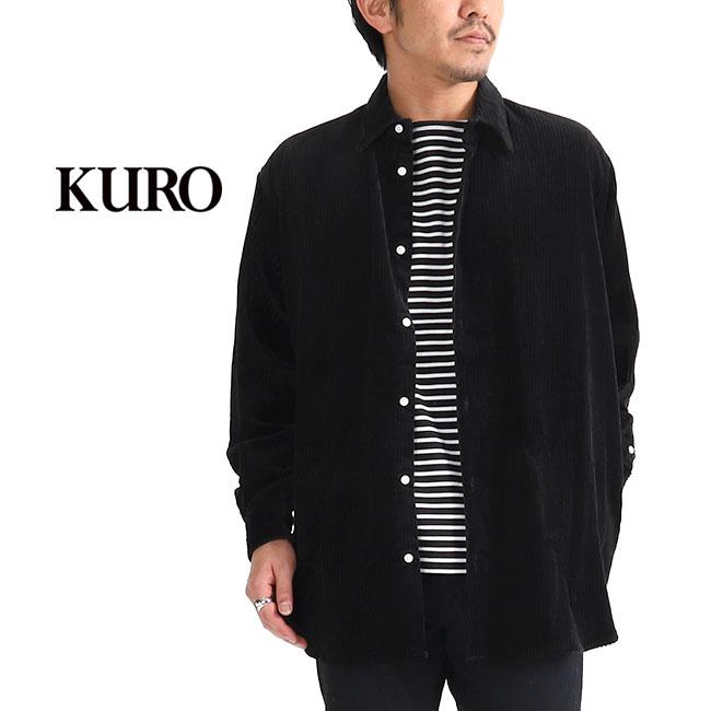 628d9e13d65 Golden State  KURO black corduroy big shirt 962129 long sleeves ...