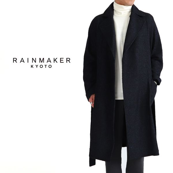 3b11d3174 RAINMAKER rainmaker tweed wrap coat RM182-023 check wool coat (men's)