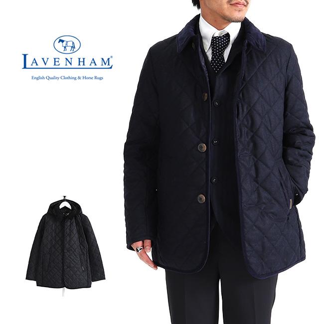 LAVENHAM ラベンハム DENSTON 3 デンストン フランネル フード付き キルティングジャケット ウール (メンズ)