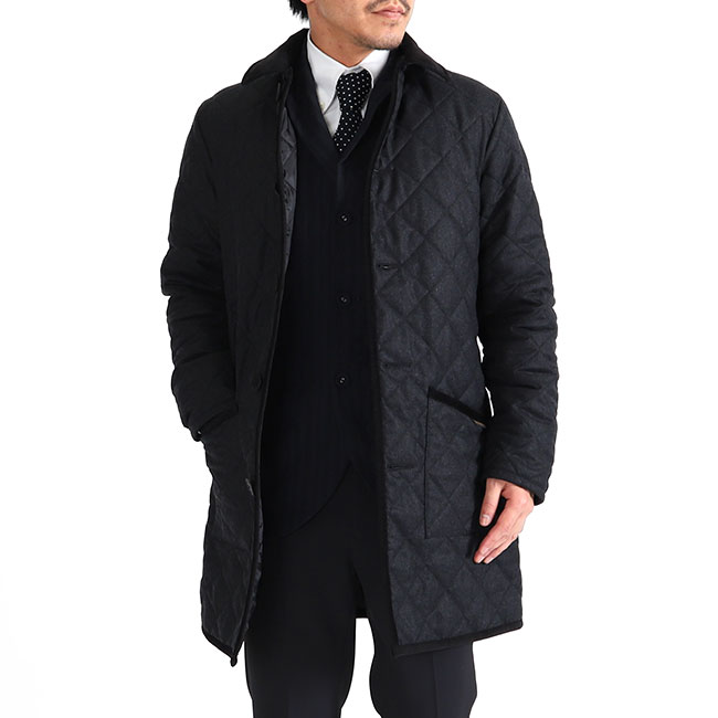 LAVENHAM ラベンハム GRINSTEAD グリンステッド フランネル フード付き キルティングジャケット コート (メンズ)