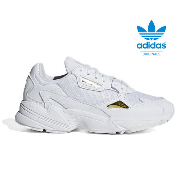 Adidas originals falcon women Lady's running shoes white gold EE8838