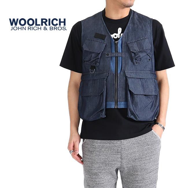 【SALE 40%OFF 】Woolrich ウールリッチ キャンバス デニム ハンティングベスト NOGIL1915 ジレ (メンズ)