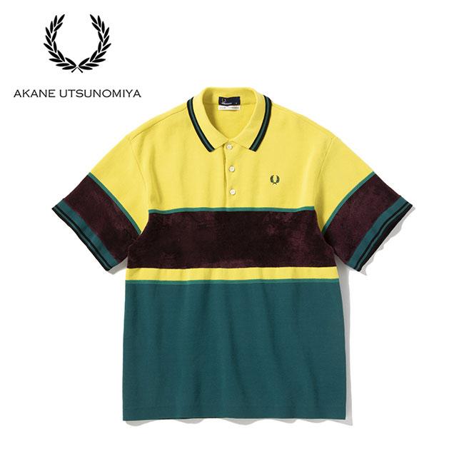 [TIME SALE] Fred Perry × AKANE UTSUNOMIYA フレッドペリー アカネ ウツノミヤ ニットポロシャツ F7170 半袖ポロシャツ (メンズ)