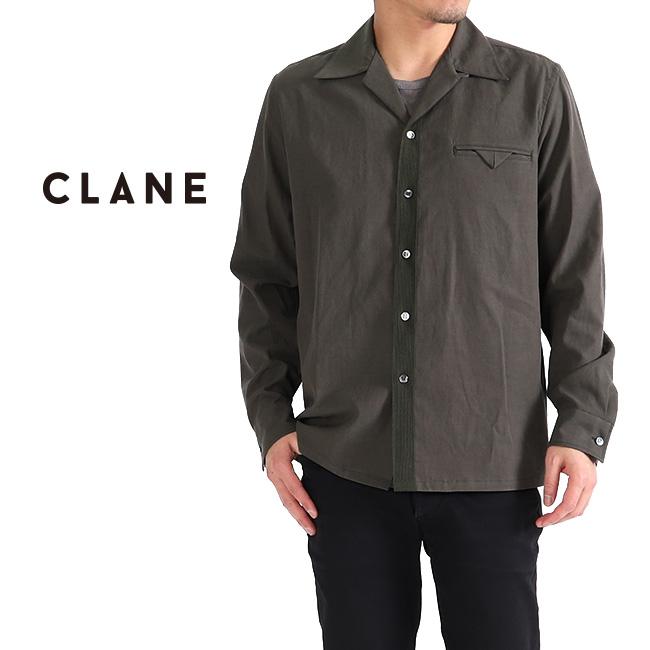 【TIME SALE 60%OFF】CLANE HOMME クラネオム オープンカラーシャツ OPEN COLLAR SHIRT 26108-1091 長袖シャツ (メンズ)