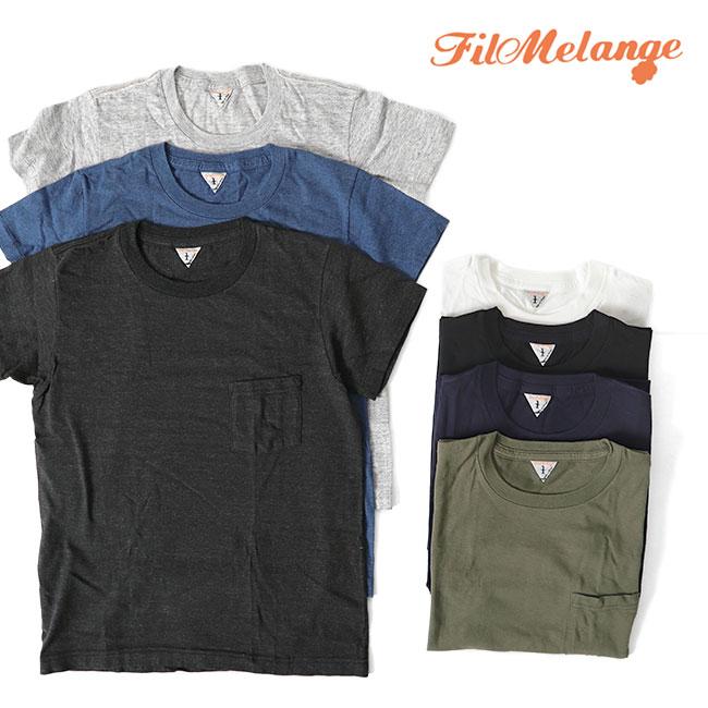 Filmelange フィルメランジェ SUNNY サニー クルーネック ポケット付きTシャツ 半袖Tシャツ (メンズ)
