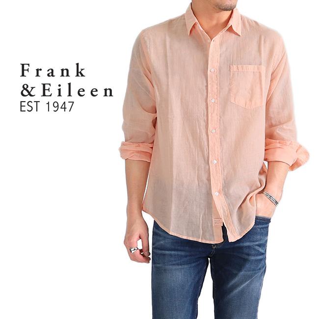 Frank&Eileen フランク&アイリーン LUKE ルーク パステルカラー イタリアンコットンシャツ 長袖シャツ (メンズ)