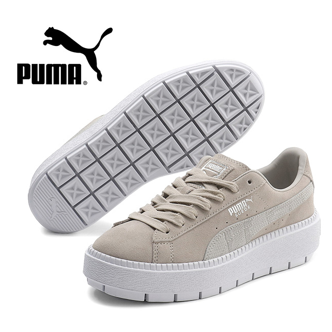 detailed look d74d5 7bc3f PUMA プーマスウェードプラットフォームトレースユーフォリア Suede Platform Trance Euphoria thickness  bottom sneakers 369842 suede shoes gray black (Lady's)