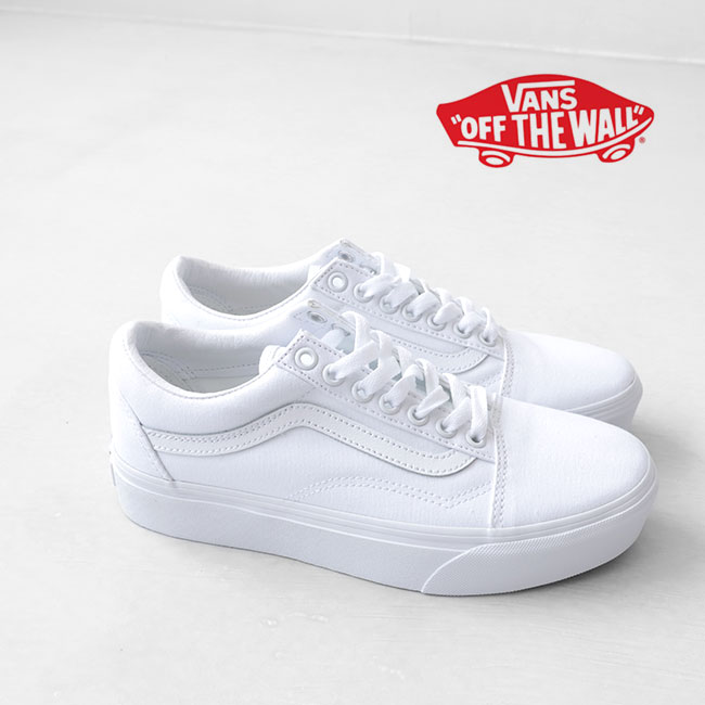 VANS vans thickness bottom old school Old Skool Platform 2.0 platform  sneakers shoes white (Lady's)