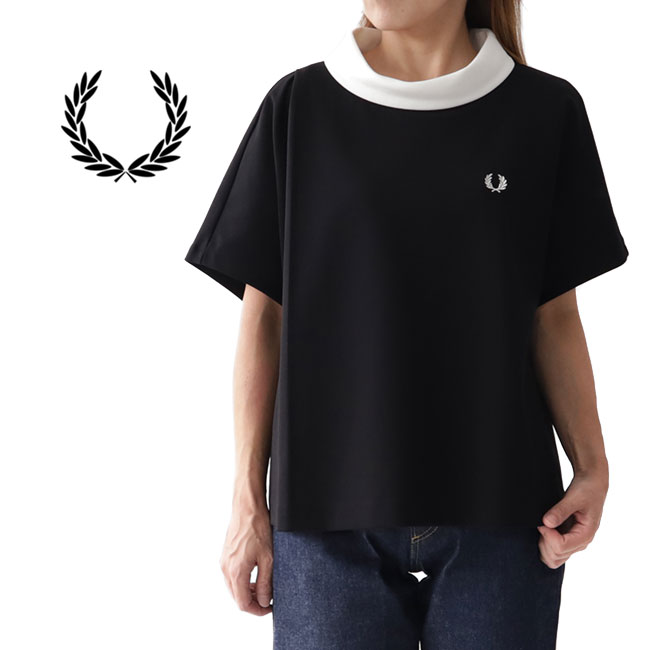 [TIME SALE] Fred Perry フレッドペリー ロールネック カットソー F5357 ブラウス (レディース)