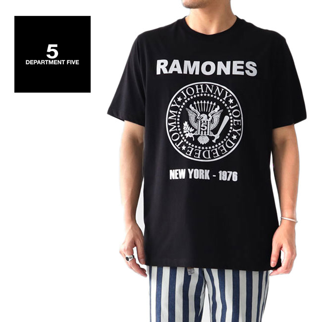 DEPARTMENT FIVE デパートメントファイブ RAMONES ラモーンズ ロックTシャツ U18TRR バンドT (メンズ)