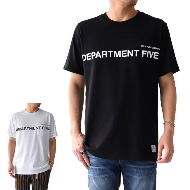 DEPARTMENT FIVE デパートメントファイブ 胸ポケット ロゴTシャツ U18TL1 ポケT (メンズ)
