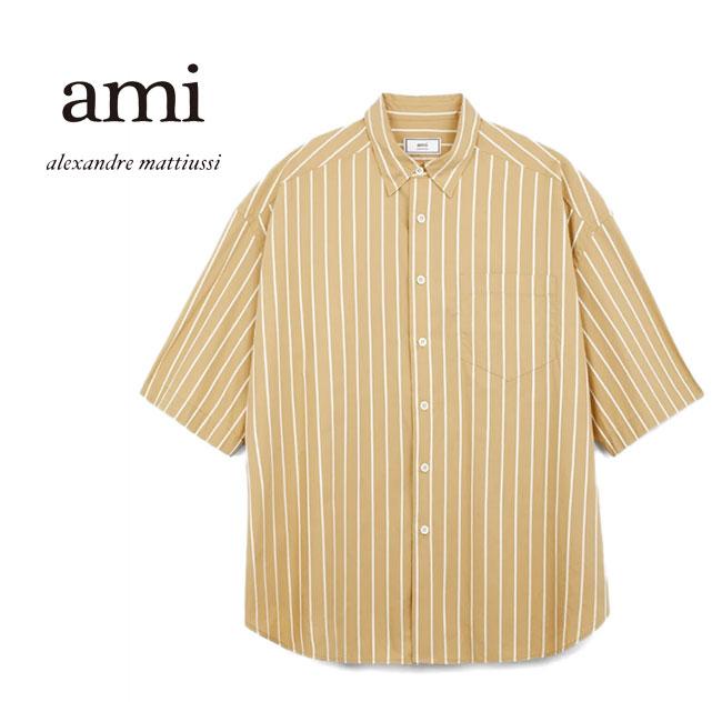 ami アミアレクサンドルマテュッシ オーバーサイズ ストライプシャツ E19C208 (メンズ)